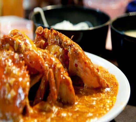 Crabes et sa sauce Sakalava